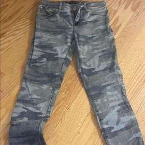 Express camo skinny jeans